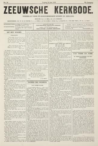 Zeeuwsche kerkbode, weekblad gewijd aan de belangen der gereformeerde kerken/ Zeeuwsch kerkblad 1939-06-16