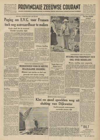 Provinciale Zeeuwse Courant 1954-08-27