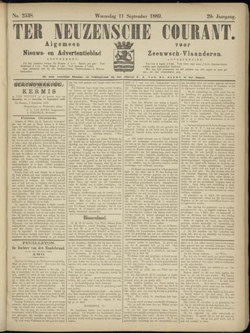 Ter Neuzensche Courant. Algemeen Nieuws- en Advertentieblad voor Zeeuwsch-Vlaanderen / Neuzensche Courant ... (idem) / (Algemeen) nieuws en advertentieblad voor Zeeuwsch-Vlaanderen 1889-09-11