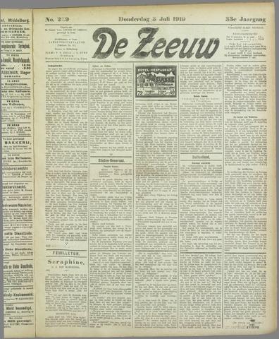 De Zeeuw. Christelijk-historisch nieuwsblad voor Zeeland 1919-07-03
