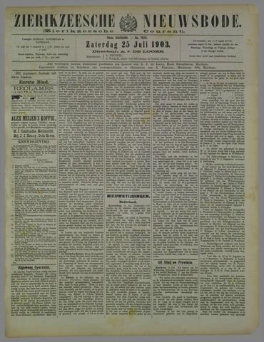Zierikzeesche Nieuwsbode 1903-07-25
