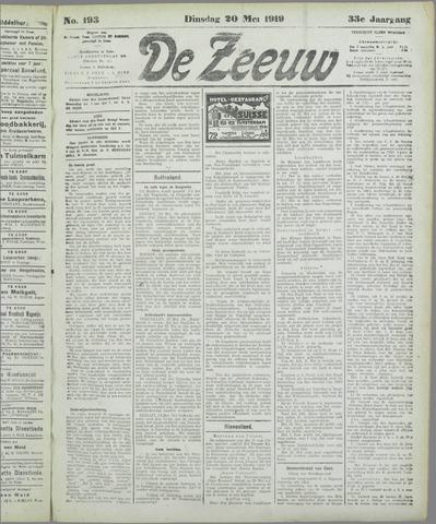 De Zeeuw. Christelijk-historisch nieuwsblad voor Zeeland 1919-05-20