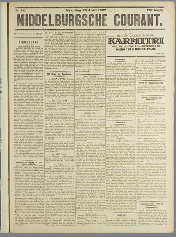 Middelburgsche Courant 1927-06-20