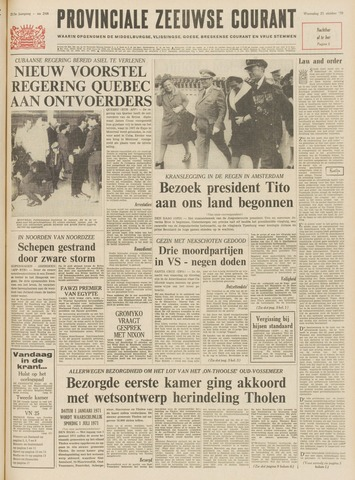 Provinciale Zeeuwse Courant 1970-10-21