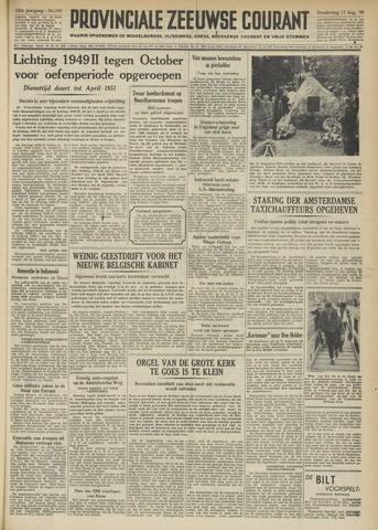 Provinciale Zeeuwse Courant 1950-08-17