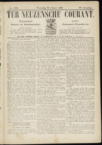 Ter Neuzensche Courant. Algemeen Nieuws- en Advertentieblad voor Zeeuwsch-Vlaanderen / Neuzensche Courant ... (idem) / (Algemeen) nieuws en advertentieblad voor Zeeuwsch-Vlaanderen 1880-01-28