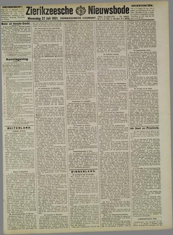 Zierikzeesche Nieuwsbode 1921-07-27