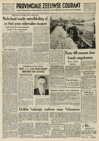 Provinciale Zeeuwse Courant 1956-02-15