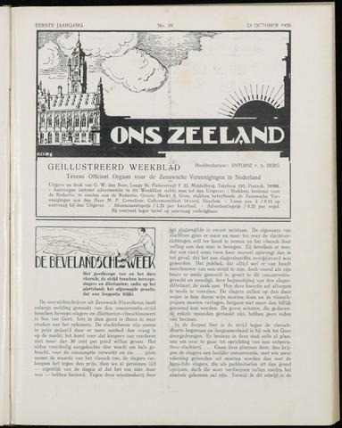 Ons Zeeland / Zeeuwsche editie 1926-10-23