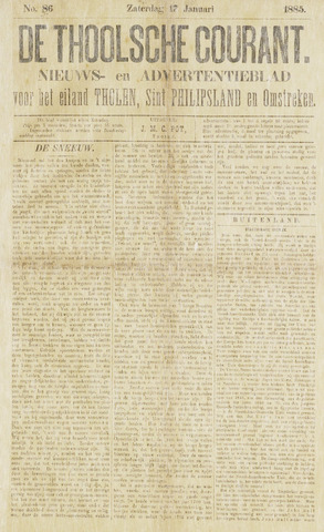 Ierseksche en Thoolsche Courant 1885-01-17