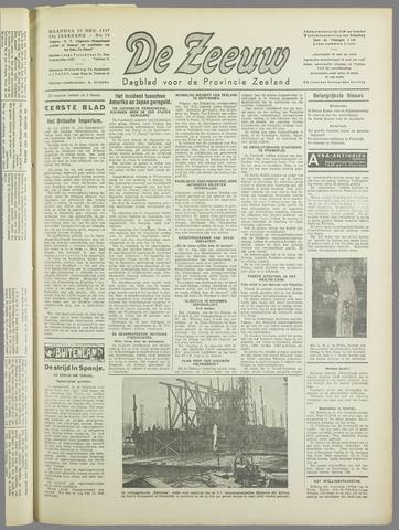 De Zeeuw. Christelijk-historisch nieuwsblad voor Zeeland 1937-12-27