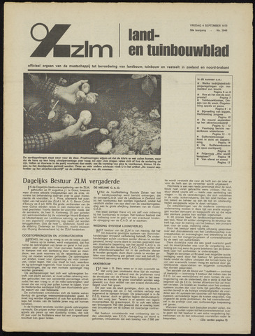 Zeeuwsch landbouwblad ... ZLM land- en tuinbouwblad 1970-09-02