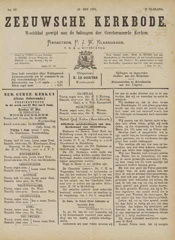 Zeeuwsche kerkbode, weekblad gewijd aan de belangen der gereformeerde kerken/ Zeeuwsch kerkblad 1888-05-26