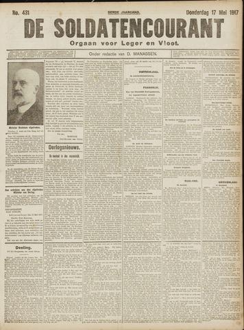 De Soldatencourant. Orgaan voor Leger en Vloot 1917-05-18