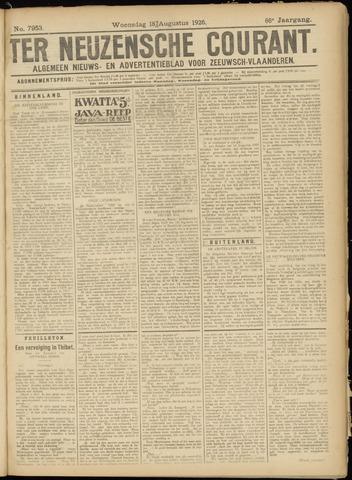 Ter Neuzensche Courant. Algemeen Nieuws- en Advertentieblad voor Zeeuwsch-Vlaanderen / Neuzensche Courant ... (idem) / (Algemeen) nieuws en advertentieblad voor Zeeuwsch-Vlaanderen 1926-08-18