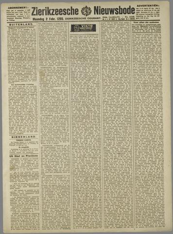 Zierikzeesche Nieuwsbode 1925-02-02