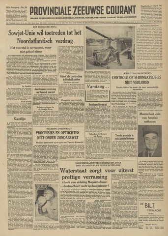 Provinciale Zeeuwse Courant 1954-04-01