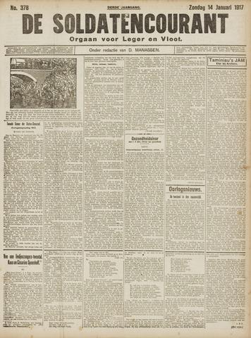 De Soldatencourant. Orgaan voor Leger en Vloot 1917-01-14