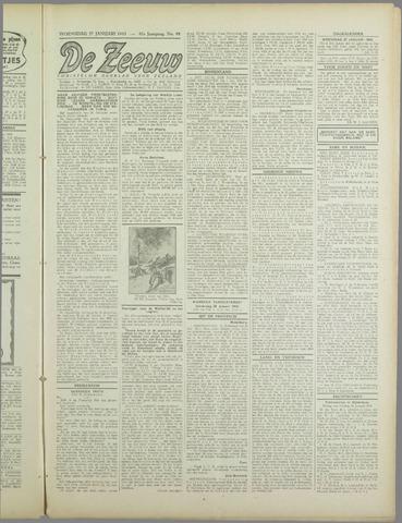 De Zeeuw. Christelijk-historisch nieuwsblad voor Zeeland 1943-01-27