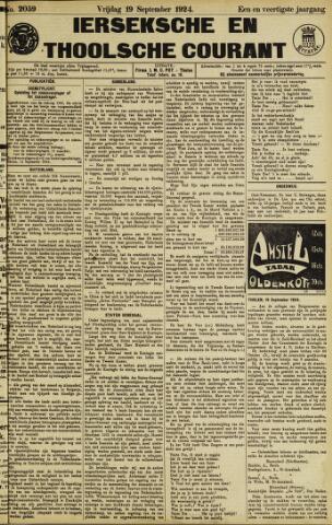 Ierseksche en Thoolsche Courant 1924-09-19