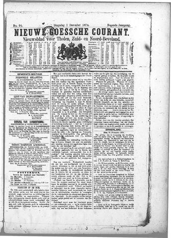 Nieuwe Goessche Courant 1874-12-01