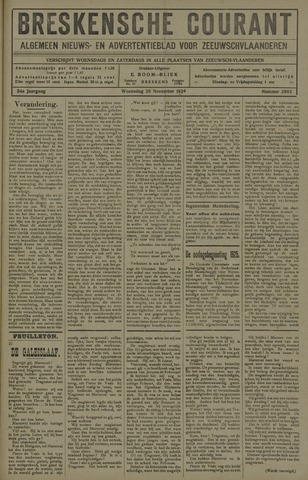 Breskensche Courant 1924-11-26