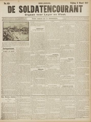 De Soldatencourant. Orgaan voor Leger en Vloot 1917-03-09
