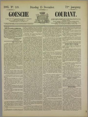 Goessche Courant 1885-12-15