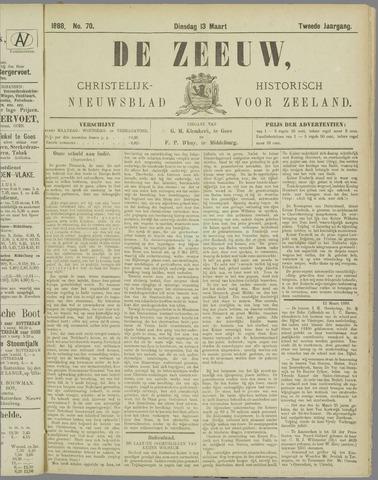 De Zeeuw. Christelijk-historisch nieuwsblad voor Zeeland 1888-03-13
