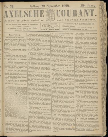 Axelsche Courant 1922-09-29