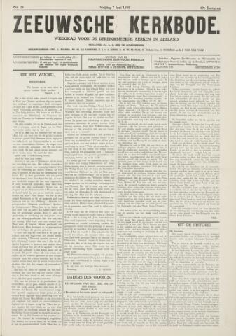 Zeeuwsche kerkbode, weekblad gewijd aan de belangen der gereformeerde kerken/ Zeeuwsch kerkblad 1935-06-07