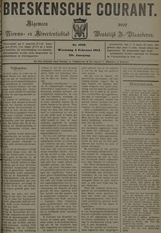 Breskensche Courant 1914-02-04