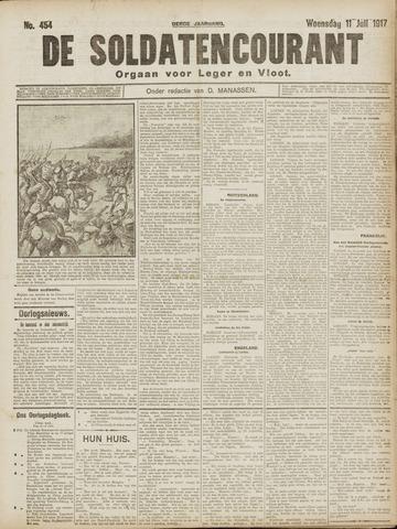 De Soldatencourant. Orgaan voor Leger en Vloot 1917-07-11