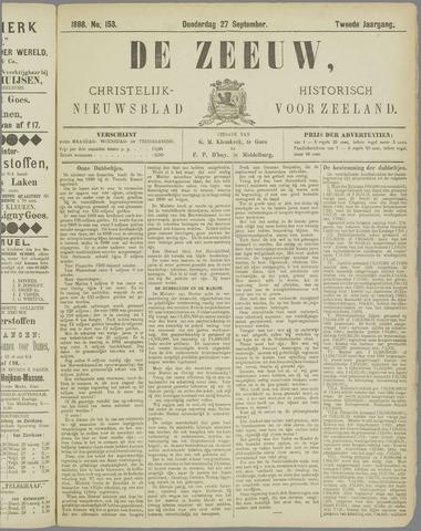 De Zeeuw. Christelijk-historisch nieuwsblad voor Zeeland 1888-09-27