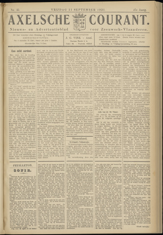 Axelsche Courant 1931-09-11