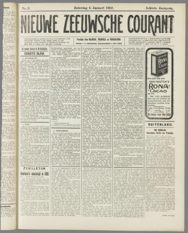 Nieuwe Zeeuwsche Courant 1912-01-06