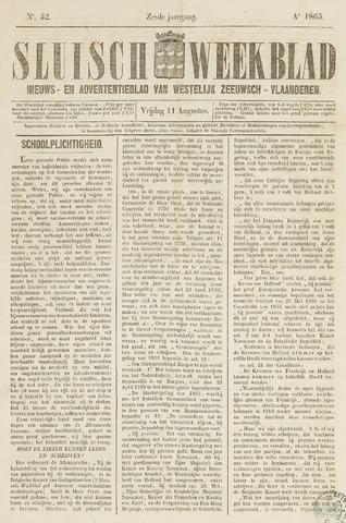 Sluisch Weekblad. Nieuws- en advertentieblad voor Westelijk Zeeuwsch-Vlaanderen 1865-08-11