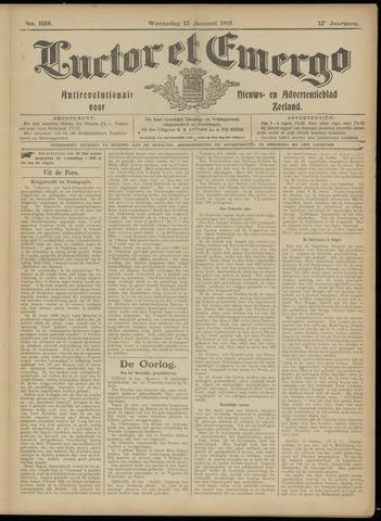 Luctor et Emergo. Antirevolutionair nieuws- en advertentieblad voor Zeeland / Zeeuwsch-Vlaanderen. Orgaan ter verspreiding van de christelijke beginselen in Zeeuwsch-Vlaanderen 1915-01-13