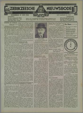 Zierikzeesche Nieuwsbode 1940-06-27