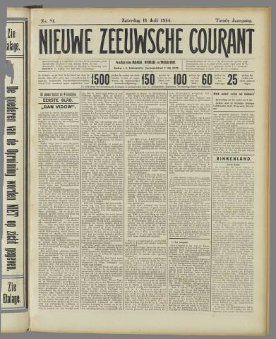 Nieuwe Zeeuwsche Courant 1914-07-11
