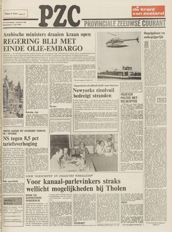 Provinciale Zeeuwse Courant 1974-07-11