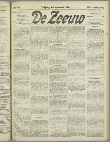 De Zeeuw. Christelijk-historisch nieuwsblad voor Zeeland 1921-01-14