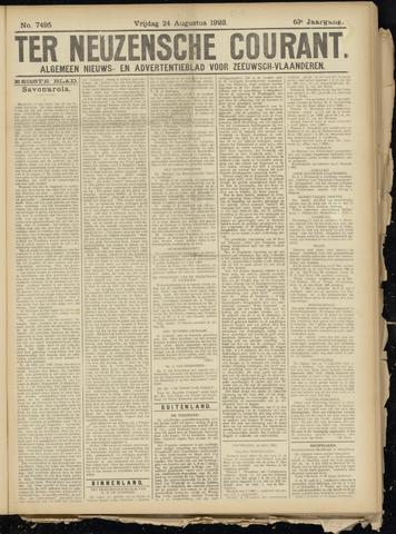 Ter Neuzensche Courant. Algemeen Nieuws- en Advertentieblad voor Zeeuwsch-Vlaanderen / Neuzensche Courant ... (idem) / (Algemeen) nieuws en advertentieblad voor Zeeuwsch-Vlaanderen 1923-08-24