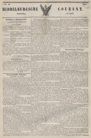Middelburgsche Courant 1851-04-17