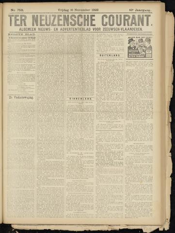 Ter Neuzensche Courant. Algemeen Nieuws- en Advertentieblad voor Zeeuwsch-Vlaanderen / Neuzensche Courant ... (idem) / (Algemeen) nieuws en advertentieblad voor Zeeuwsch-Vlaanderen 1923-11-16