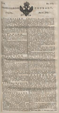 Middelburgsche Courant 1777-07-22