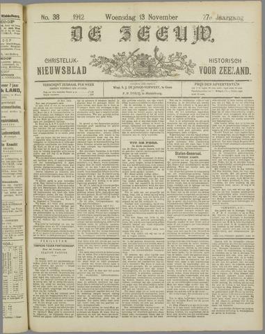 De Zeeuw. Christelijk-historisch nieuwsblad voor Zeeland 1912-11-13