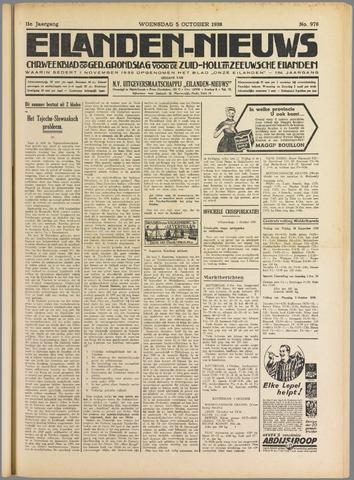 Eilanden-nieuws. Christelijk streekblad op gereformeerde grondslag 1938-10-05