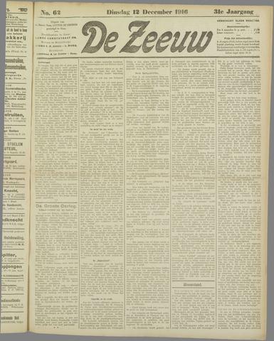 De Zeeuw. Christelijk-historisch nieuwsblad voor Zeeland 1916-12-12