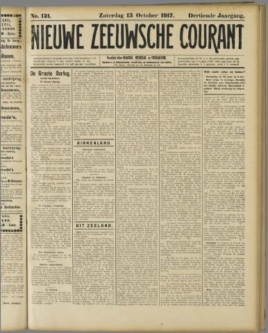 Nieuwe Zeeuwsche Courant 1917-10-13